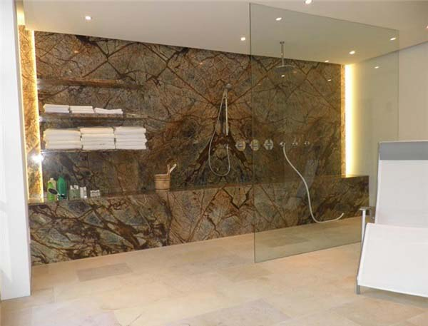 rain forest brown marble polished bathroom design p249291